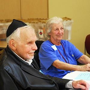 seniors at Shabbat luncheon