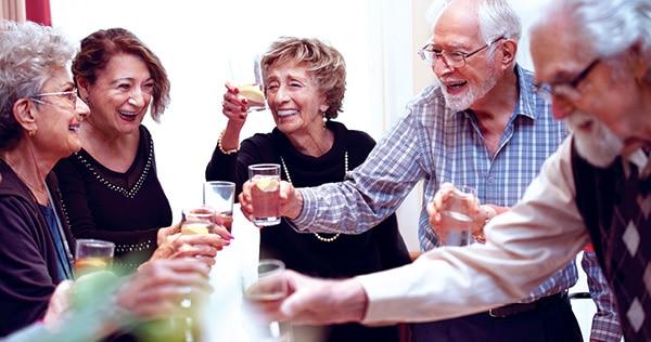 Seniors enjoying social club